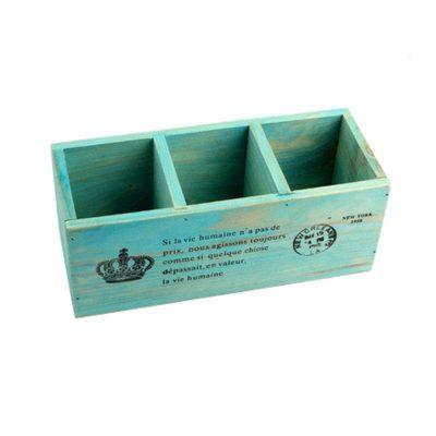 Home & Garden Multifunction Wooden Storage Boxes Wood Box Pencil Case Desktop Storage Case Office Desk Organizer Home Decor