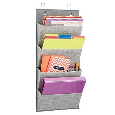 Soft Fabric Wall Mount/Over Door Hanging Storage Organizer
