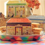 Vintage European Decorative Bakery Tin Box Gift Packing For Cookie Biscuit Candy Container Kitchen Storage Iron Box 3pcs/lot
