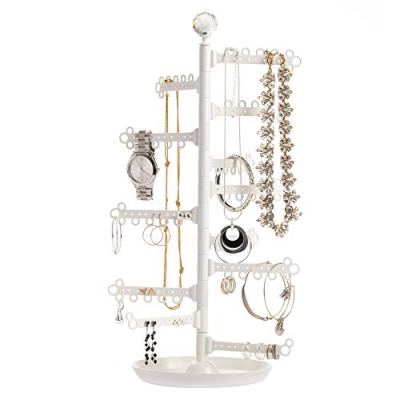 12-Tier Extra Capacity Jewelry Organizer Holder Stand Tower Tree