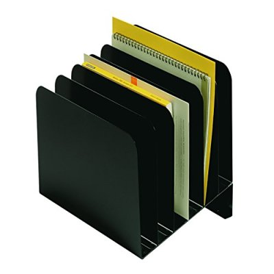 "MMF Steelmaster Slanted Vertical File Organizer - 12"" H x 11"" W x 9.3"" D - Black, 1 Each (MMF264S6BLA)"