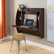 Prepac EEHW-0200-1 Wall Mounted Floating Desk with Storage, Espresso