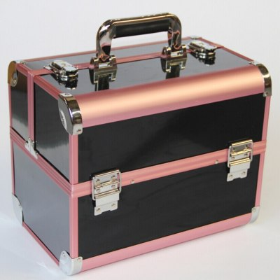 New Arrival Large Make Up Organizer Storage Box,Cosmetic Organizer Suitcase,Women Makeup Box Container Travel Cosmetic Bag Cases