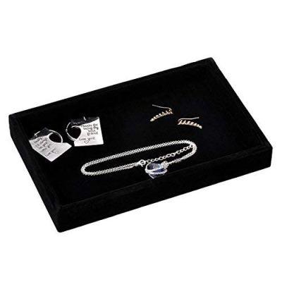 Velvet Jewelry Tray Showcase Display Organizer for Ring Earring