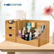 HECARE Jewelry Storage Container Home Storage Wooden Box Handmade DIY Assembly Case Organizadores Wood Desk Makeup Organizer NEW