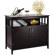 Costzon Kitchen Storage Sideboard Dining Buffet Server Cabinet Cupboard with Shelf (Espresso)