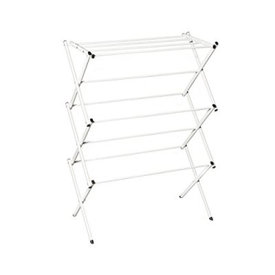 Hamilton Beach 83110 Foldable Clothes, Indoor Accordion Drying Rack, White