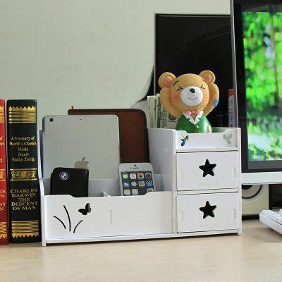 Large Size Drawer-Style Cosmetics Storage Shelving Office Desktop Storage Box Plastic Bins Storage Container