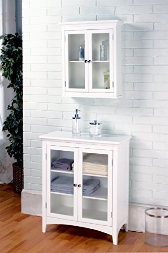 Elegant Home Fashions Madison Collection Shelved Wall Cabinet