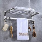 Stainless Steel Towel Racks for Bathroom with Double Towel Bars