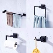 KES Bathroom Accessories Set 4-Piece Double Towel Bar Toilet Paper