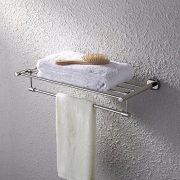 KES Bath Towel Rack With Rotatable Towel Bar 24 Inch SUS