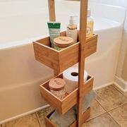 SplashSoup Three Tier Bamboo Natural Home Caddy