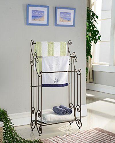 Kings Brand Furniture Metal Free Towel Rack Stand