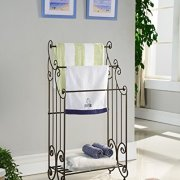 Kings Brand Furniture Metal Free Towel Rack Stand