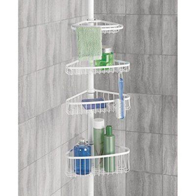 InterDesign York Bathroom Constant Tension Corner Shower Caddy for Shampoo