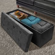 Sorbus Storage Ottoman Bench - Collapsible/Folding Bench Chest