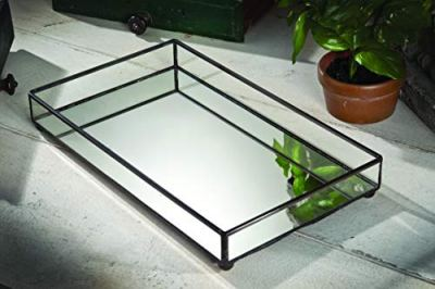 J Devlin TRA Glass Jewelry Tray Vanity Organizer Dresser Tray