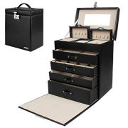 Homde Jewelry Box Girls Fully Locking Organizer for Necklace Earrings