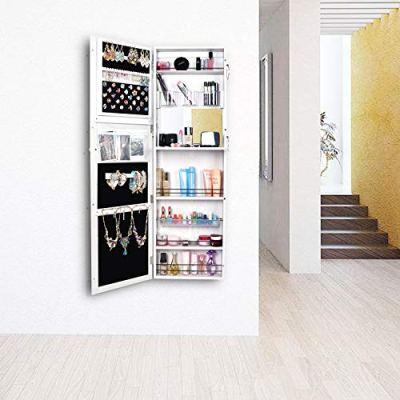 Bonnlo 2 in 1 Jewelry Armoire Wall Mounted/Door Hanging Cabinet