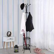 Yaheetech Coat Rack with Umbrella Stand, Entryway Coat Rack