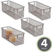 mDesign Farmhouse Decor Metal Wire Food Storage Organizer