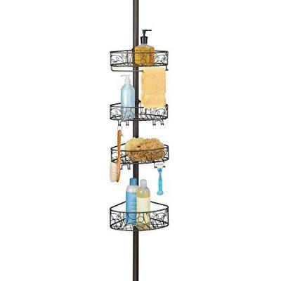 InterDesign Twigz Metal Wire Tension Rod Corner Shower Caddy