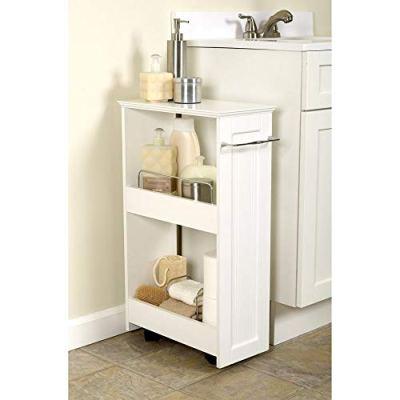 Zenna Home, Slimline Rolling Storage Shelf, White