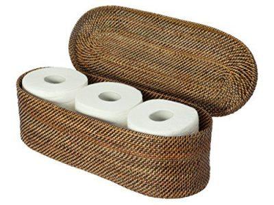 KOUBOO Carmel Handwoven Nito Toilet Paper Roll Cover