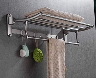 ELLO&ALLO Towel Racks for Bathroom Shelf with Foldable Towel Bar