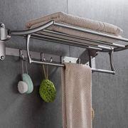 ELLO&ALLO Towel Racks for Bathroom Shelf with Foldable Towel Bar