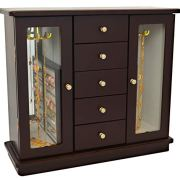 Lacuna Boutique Deluxe Wooden Jewelry Box - Fashionable Jewel Case Cabinet