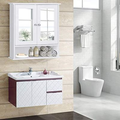 Tangkula Bathroom Cabinet, Home Kitchen Living Room Double Mirror