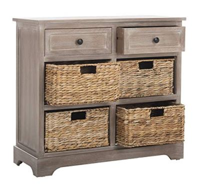 Safavieh American Homes Collection Herman Whitewash Wicker Basket Storage