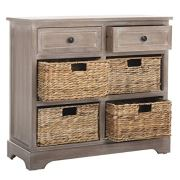 Safavieh American Homes Collection Herman Whitewash Wicker Basket Storage