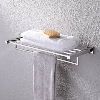 KES Towel Rack, Bathroom Shelf with Towel Bar