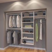 Modular Closets 7.5 FT Plywood Closet Organizer System