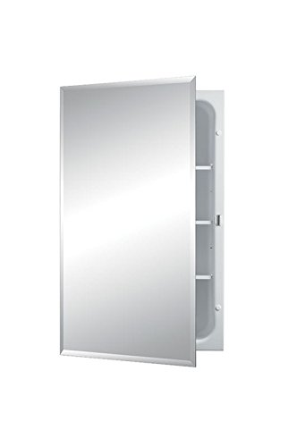 """Jensen Bevel Mirror Medicine Cabinet, 16"""" x 26"""""""