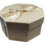 Foster-Stephens, inc Colorful Hat Box - Polka Dot Champaign