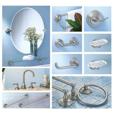 Gatco Marina Glass Shelf, Satin Nickel