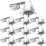 Sunco Lighting 10 Pack 4 Inch Remodel Housing, Air Tight IC Rated Steel Can