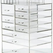 Cq acrylic Extra Large 8 Tier Clear Acrylic Cosmetic Makeup Storage