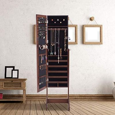 Giantex Jewelry Cabinet Armoire with Mirror Lockable