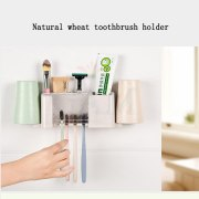 Bathroom product Dust-proof Wheat Straw Toothbrush Holder