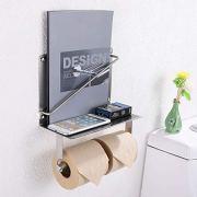 Toilet Paper Holder with Magazine Rack, APL Bathroom Accessories
