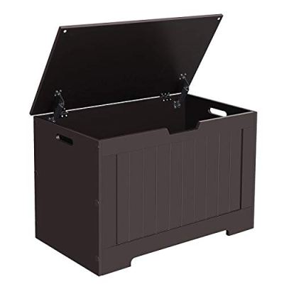 VASAGLE Lift Top Entryway Storage Chest/Bench with 2 Safety Hinge