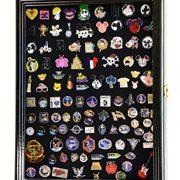 Lapel Pin Pins Display Case Cabinet Wall Rack Holder Disney Hard Rock