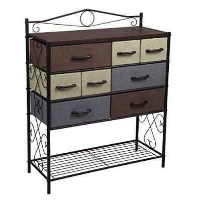 Household Essentials Victorian 8-Drawer Chest   Storage Dresser