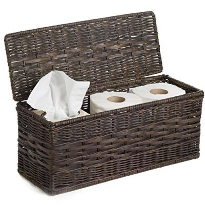 "This basket is completely designed to descreetly conceal tissues and bathroom paper within the rest room due to its hinged lid and slender form. It additionally makes a terrific present field crammed with lotions and bathtub salts and even cookies and tea. Completed in Antiuqe Walnut Brown OUTSIDE DIMENSIONS: 16""L x 6.5""W x 7""H. INSIDE DIMENSIONS: 15.5""L x 6""W x 6""H"