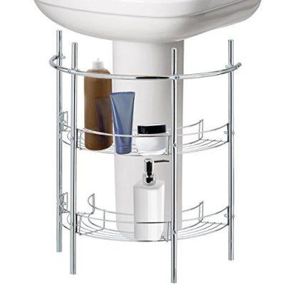 MyGift Under-The-Sink Bathroom Quality Pedestal Storage Rack